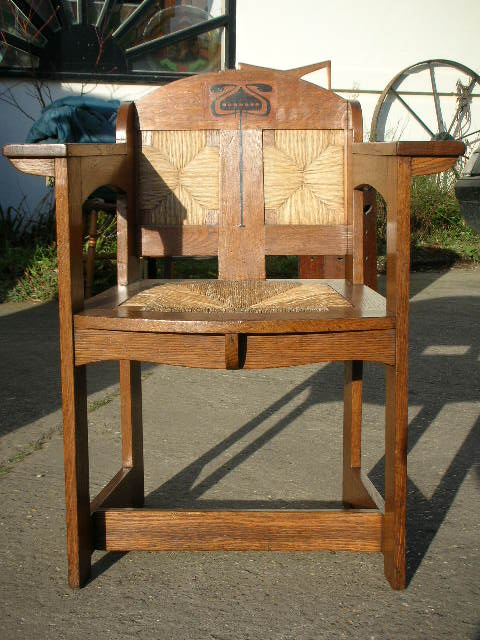 E. Punnet armchair made by William Birch & retailed by Liberty & Co