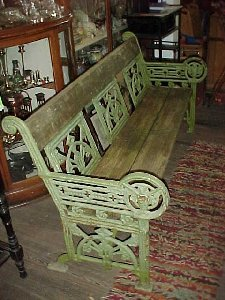 Gothic Revival Cast Iron Bench